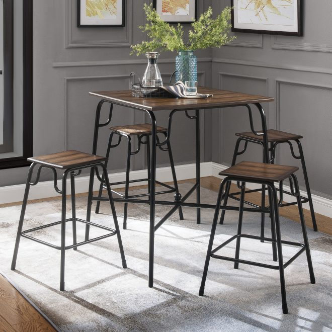 details about dining table set counter height pub bistro kitchen tables and chairs sets modern