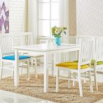 details about florence dining set white table and 4 chairs seater modern elegant jewel green