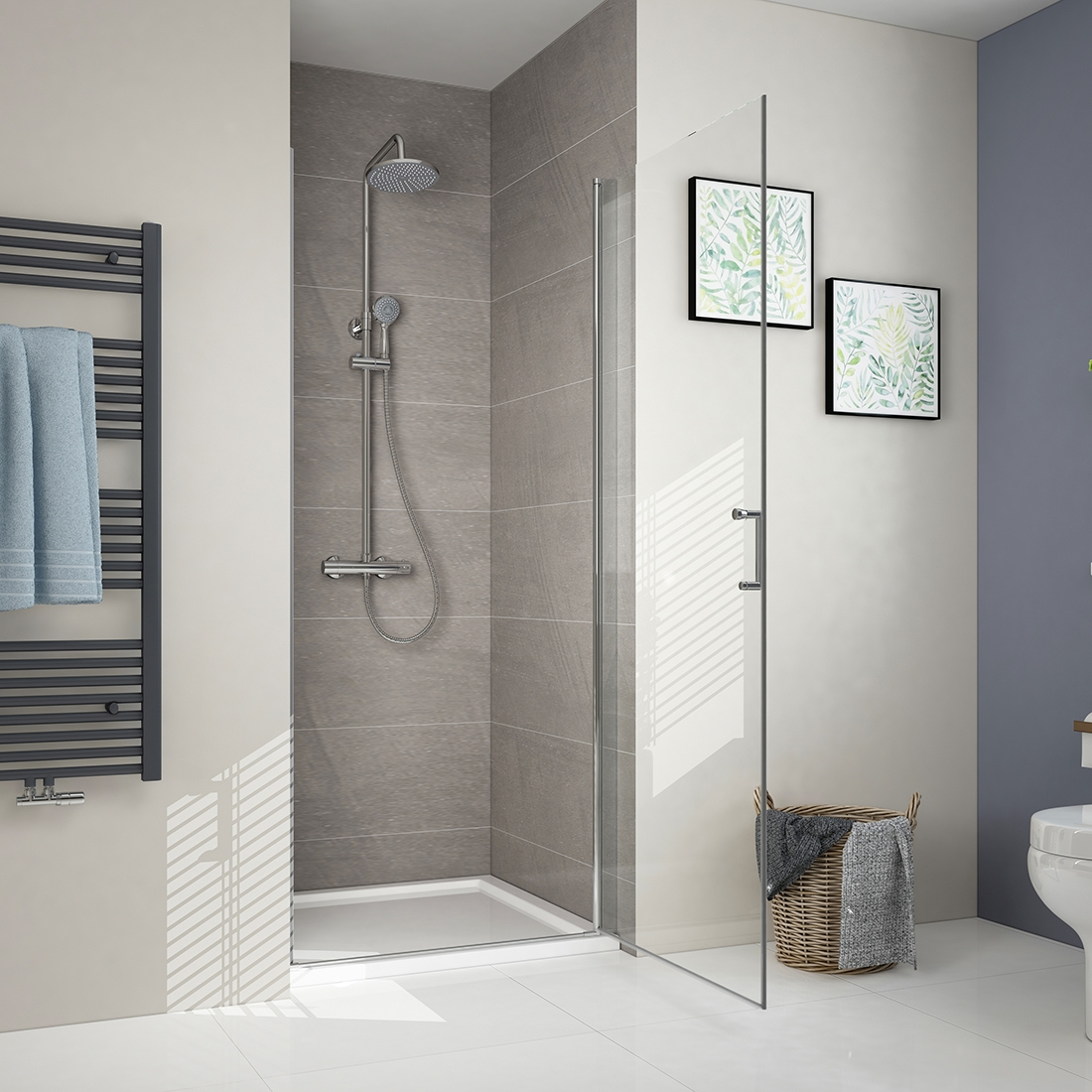 details about frameless pivot hinged 6mm glass shower enclosure cubicle modern bathroom uk