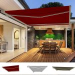 details about garden awning retractable canopy electric patio shelter with led lights 45x3m
