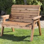 details about hand made traditional 2 seater chunky rustic wooden garden bench furniture
