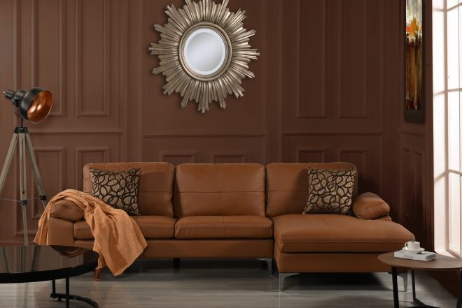 details about large leather sectional sofa l shape couch with chaise 1087 w inches camel