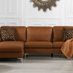 details about living room family room leather sectional sofa l shape couch left chaise camel
