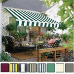 details about manual awning canopy garden patio shade shelter aluminium retractable greenbay