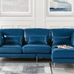 details about modern leather sectional sofa contemporary pvc leather l shape couch navy blue