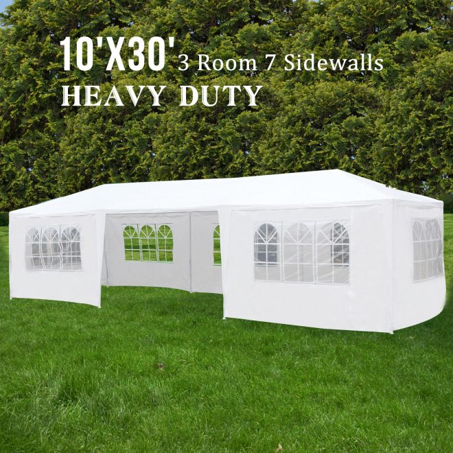 details about outdoor 10x 30 party wedding tent 7 sidewalls canopy gazebo pavilion cater