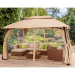 details about outdoor home 10 x 13 backyard garden awnings patio gazebo canopy tent netting