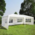 details about outsunny 10x20 outdoor wedding party tent patio gazebo canopy side walls white