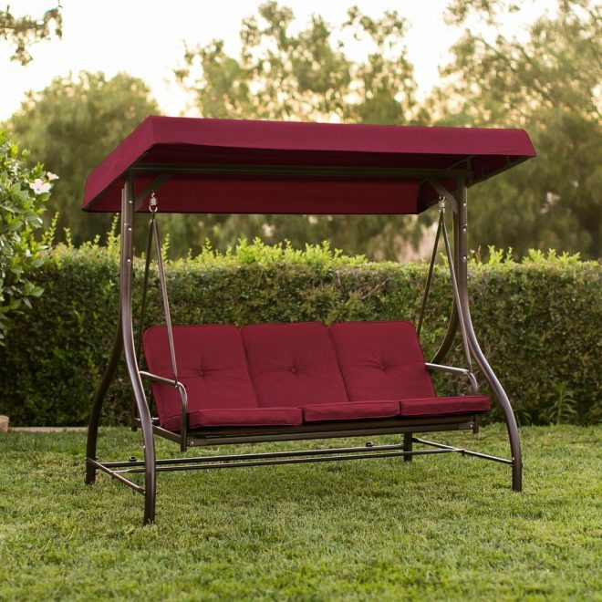 details about patio porch swing chair canopy outdoor lounge