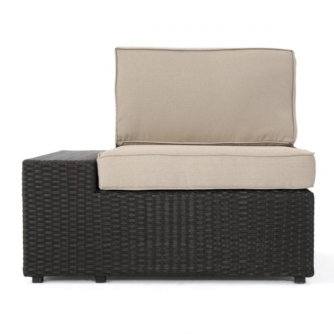 details about reddington outdoor wicker sectional set w cushions