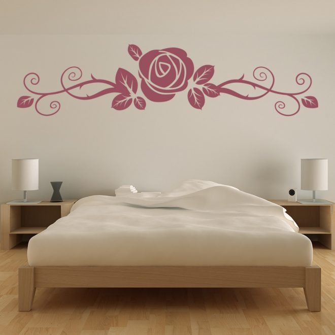 details about rose flower floral headboard wall decal sticker ws 17065