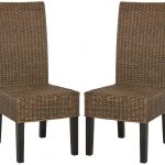 details about safavieh sea8013 set2 arjun 181w wicker dining chairs set of 2 brown