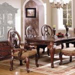details about tuscany ii elegant antique cherry 8 pc formal dining room set w buffet