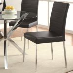 details about vance contemporary black vinyl dining side chair set of 4