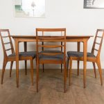details about vintage retro teak mid century dining table and 4 chairs mcintosh