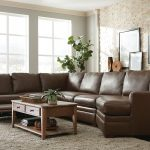 dillard cuddler leather right hand facing sectional