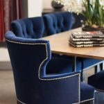 dining chair blue dining chairs navy blue dining chairs tufted