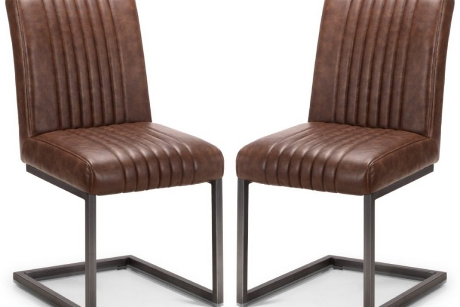 dining chair pair of brooklyn brown faux leather dining chairs bro107