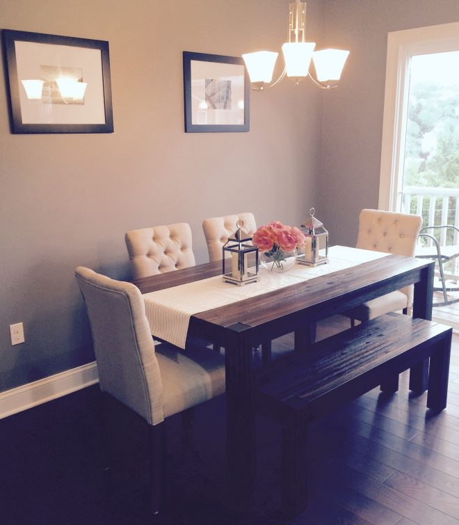 dining room avondale macys table bench with fabric chairs from