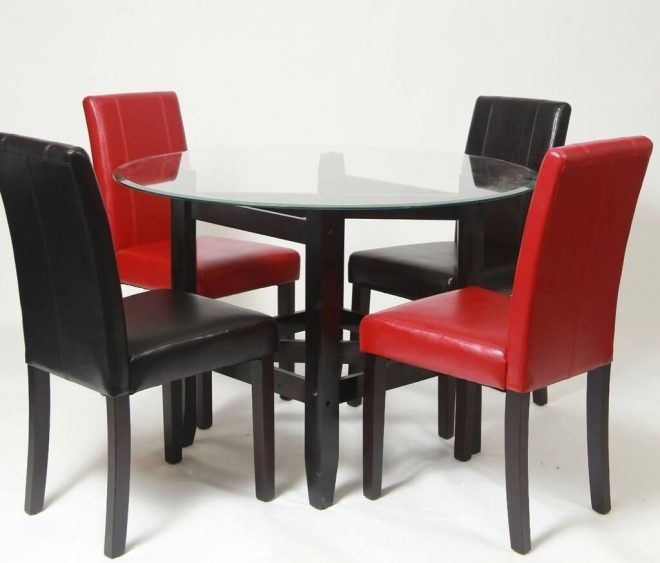 dining room black and red upholstered dining room chairs with round
