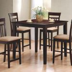 dining room coaster dinette tall kitchen table and chairs set