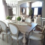 dining room round back dining chair rustic finish gray