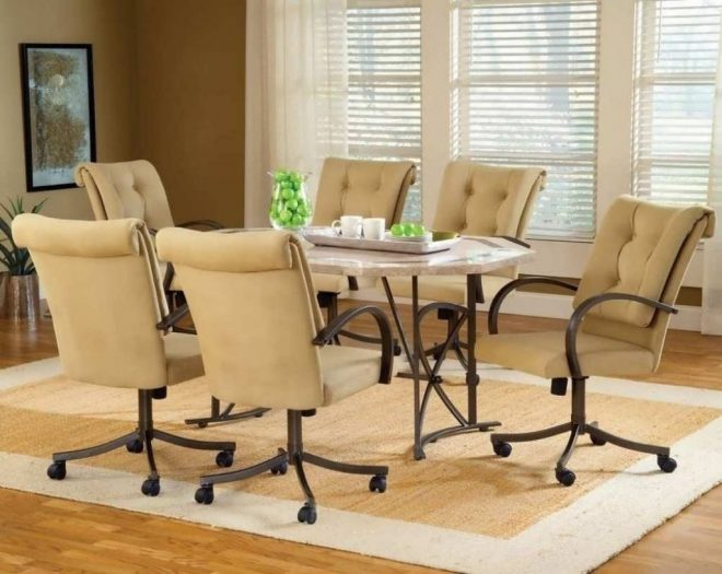 dining room sets with casters layjao