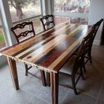 dining room table i made from pallet wood repurposed