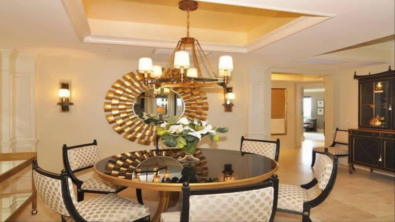dining room wall decor ideas with mirror youtube