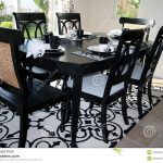 dining set in black and white stock photo image of black