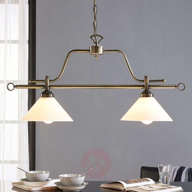 dining table hanging lamp otis 2 bulb