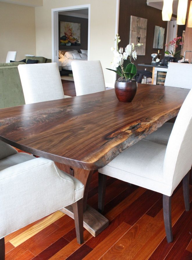 dining table modern with walnut slab dining tables