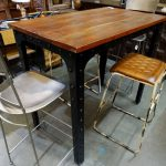 dining table riveted industrial bar height charming rustic