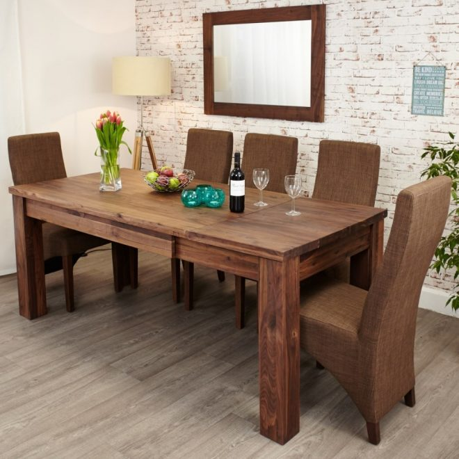 dining tables baumhaus mayan walnut extending dining table cwc04a