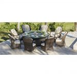 direct wicker eton 8 seat brown round wicker outdoor fire