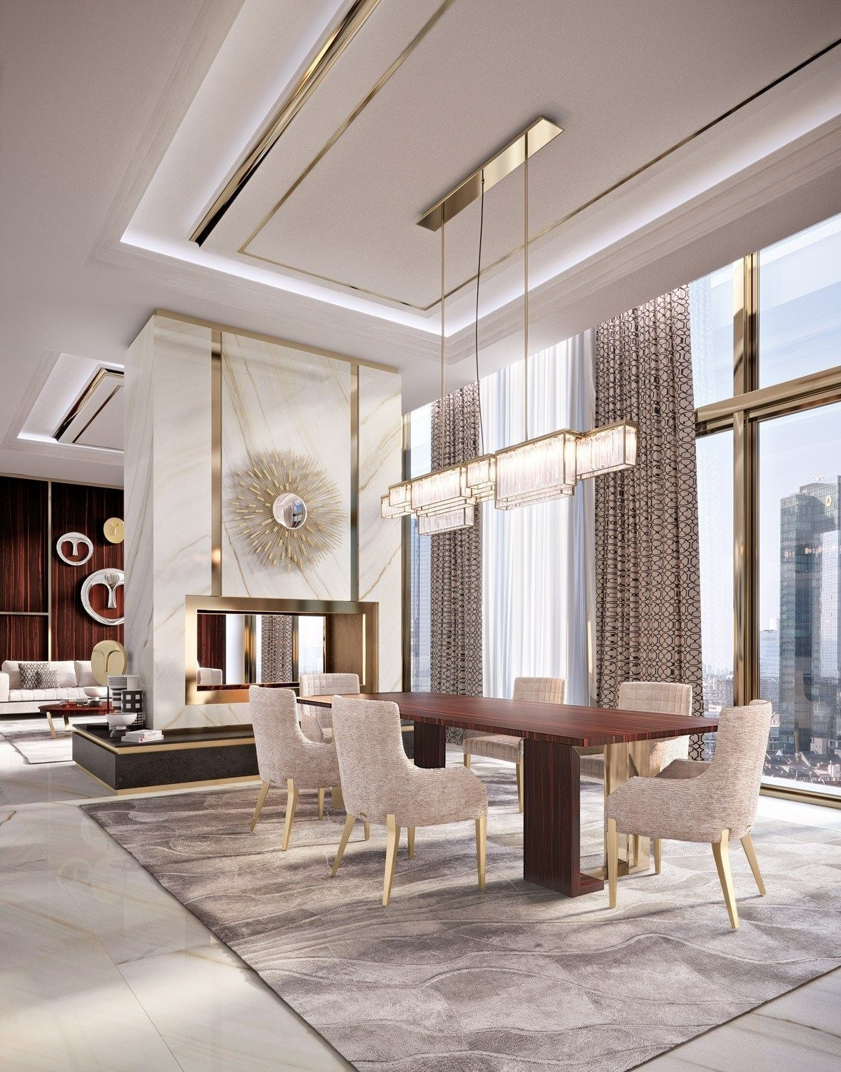 discover exclusive lighting ideas for a luxurious dining
