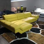 divani casa 994b modern yellow leather sectional sofa sofa