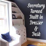 diy built in dresser from a secretary one room challenge week 4