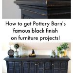 diy crafts ideas pottery barn black furniture finish