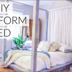 diy four poster bed part 1 how to decorate bedroom on a budget restoration hardware hacks