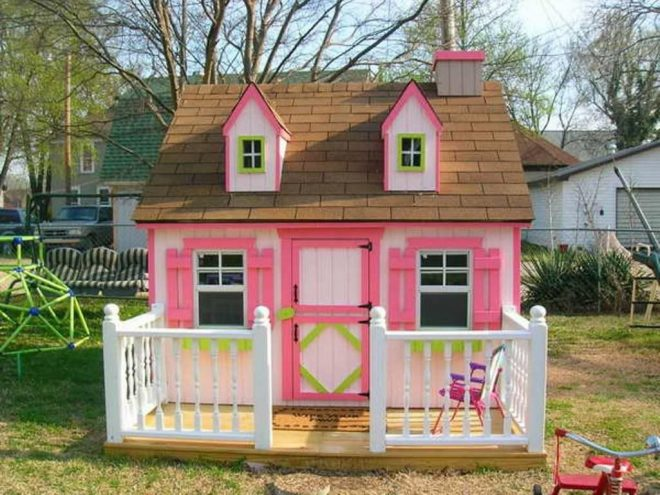 diy girls and boys playhouse designs for backyard play