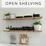 diy kitchen open shelving kitchen shelves diy kitchen