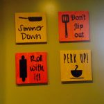 diy kitchen wall art painted canvas silhouette cameo printed