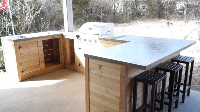 diy modern outdoor kitchen and bar modern builds ep 21