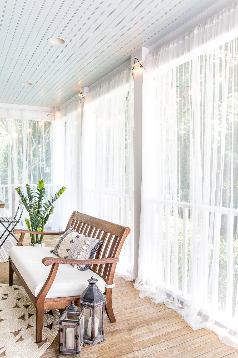 diy outdoor curtains and screened porch for under 100