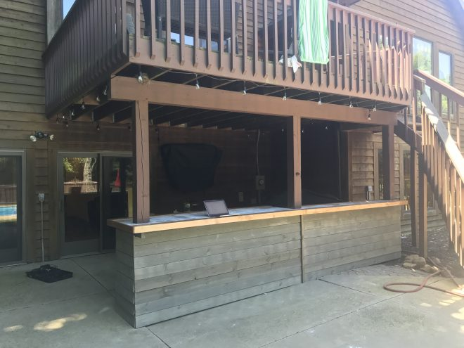 diy outdoor patio bar under deck album on imgur