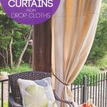 diy patio curtains from drop cloths with no sewing