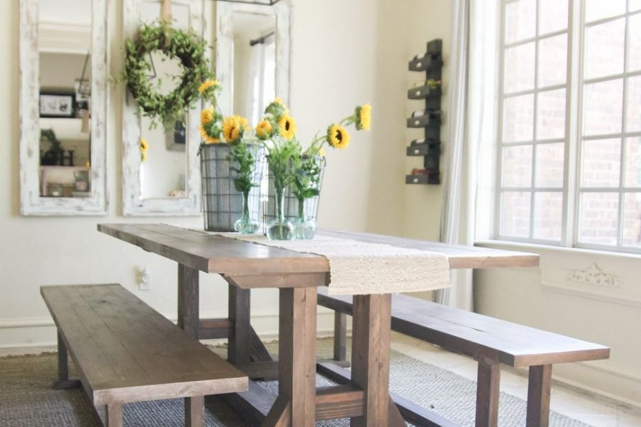 diy pottery barn inspired dining table for 100 farmhouse