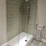 diy raised shower enclosure in 2019 modern master bathroom