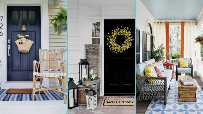 diy shab chic style rustic summer front porch decor ideas front entrance decor flamingo mango